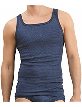 3er Pack - Ammann - Jeans - Herren Unterhemd - Sport-Jacke Feinripp mit hohem Baumwolle-Anteil Größe 5 - 12 -...