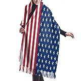 La bandiera americana Sciarpa di cashmere Sciarpe avvolgenti donna di qualità premium Sciarpa ultra morbida Sciarpa invernale Silenziosa Sciarpa invernale Must