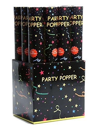 Party Popper 12er-Pack Luftschlangen 40cm Konfettishooter Kanonen PARTY Dekoration Silvester (Poppers Silvester-party)