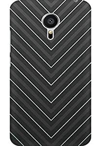 AMEZ designer printed 3d premium high quality back case cover for Meizu MX5 (stylish grey)