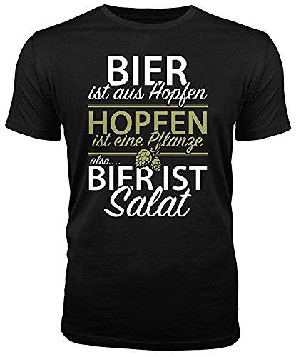 Bier ist Salat - lustiges Herren T-Shirt (M)
