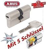 ABUS EC550 Profil-Doppelzylinder Länge 40/50mm mit 5 Schlüssel