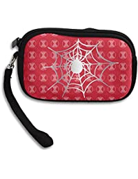 Spider Web Bug Black Widow Platinum Style Wristlet Pouch Coin Bag
