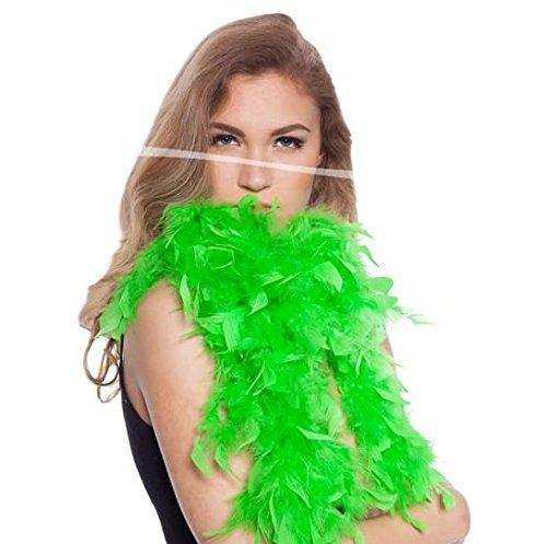 Boa de plumes verte clair 180cm 8714572620772