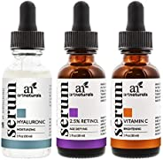 Artnaturals trio serum set - hyaluronic, retinol and vitamin C serum