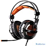 Sades SA-928 Stereo Professional Over-Ear Gaming Headset, WishLotus® New Version Headphone with Microphone for PS4 PS3 PS2 Mac Laptop PC Xbox360 Black and Orange