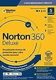 Norton 360 Deluxe 2020 | Antivirus pour 5 appareils et un an d'abonnement avec renouvellement automatique| Secure VPN et Password Manager | PC/Mac/iOS/Android | Code d'activation - envoi par email