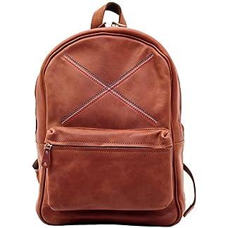 LE MARIOL B.B.R marrone Bolso mochila de cuero satchel escuela PAUL MARIUS