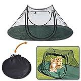 CHANG Haustier-Katzen-Zelt, Tragbares Haustier-Gehäuse des Katzen-Haus-Im Freien Für Innenkatzen und Hunde, 600D Oxford-Katzen-Zelt-Bett, Einfach Zusammenbauen