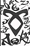 """The Mortal Instruments City Of Bones - Shadowhunters Journal Blank Notebook: Runes Design Blank Journal A4 Notebook, for daily reflection, 150 Pages, 6"""" x 9"""" (15.24 x 22.86 cm), Durable Soft Cover"""