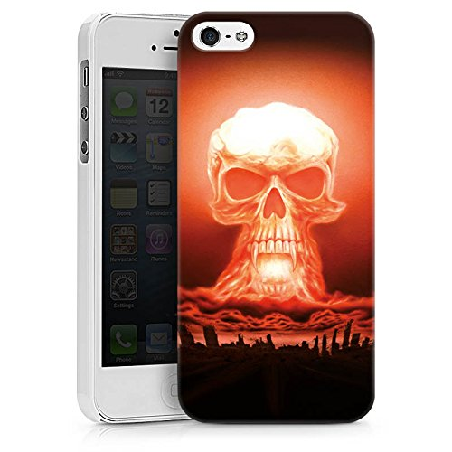 Apple iPhone X Silikon Hülle Case Schutzhülle Explosion Totenkopf Stadt Hard Case weiß
