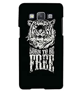 Citydreamz Born To be Free/Quotes/Quotations/Tiger Hard Polycarbonate Designer Back Case Cover For Samsung Galaxy On7 Pro