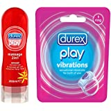 Durex Play Massage 2in1 Sensual - 200 ml & Play Vibrations Ring Combo