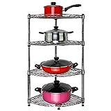 Shelf LYG Küchenwagen Regal, C-Stahl Eckregal Organisation Regal Küchenregal Küchenregal