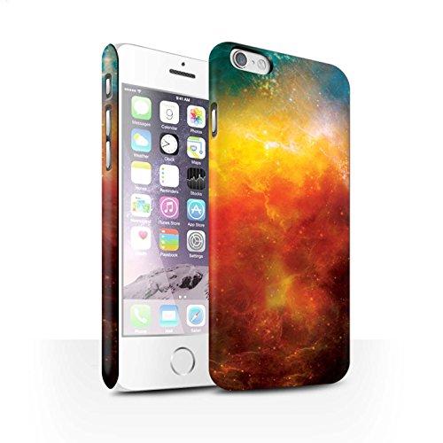 STUFF4 Matte Snap-On Hülle / Case für Apple iPhone 7 Plus / Lila Planet Muster / Weltraum Kollektion Orange Nebelfleck