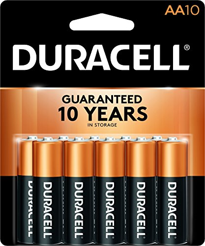 Coppertop Alkaline Batteries, AA, 10/Pack Duracell Coppertop Alkaline-aa-batterien