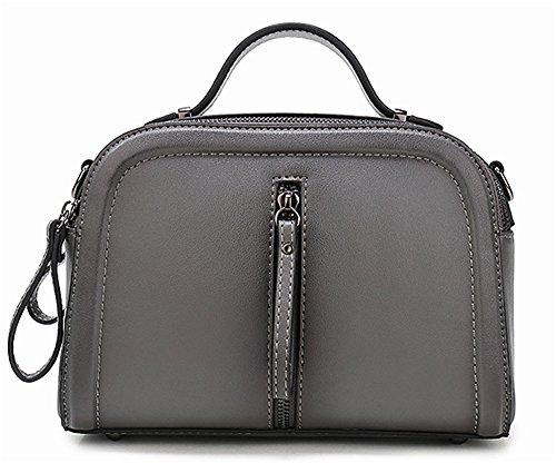 Sacs à main pour femme Xinmaoyuan Fashion sac à main en cuir de couleur épaule unique pulvérisation Paquet diagonale Sac pour femme en cuir Gray