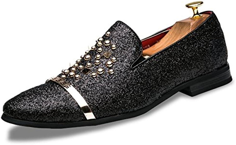 Hongjun-scarpe, Scarpe da Uomo 2018, da Uomo Britannico Moda Scintillante Stringhe Rivetto Slip on Scarpe Casual... | Sconto  | Uomo/Donna Scarpa