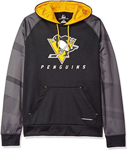 Majestic Pena Shot Felpa con cappuccio NHL Pittsburgh Penguins, XL