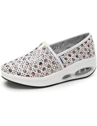 SHINIK Zapatos de mujer Summer Canvas Fitness Shake Shoes Comfort Sneakers Slope With Shake Zapatos para mujer...