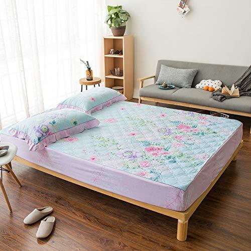 CYYCY Matratzenbezug, Anti-Milbe, staubdicht und staubdicht,Bettdecke doppelbett pad Cover Set Flower Cluster einzelbett Set 180 * 200cm