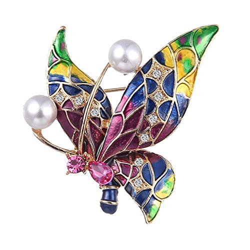 Vektenxi Vintage Schmuck Emaille Schmetterling Corsage Lot Hochzeit Brosche Insekt Pin Up Broschen Farbe langlebig und nützlich