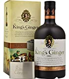 The King's Ginger Liqueur with Hip Flask in Gift Pack, 50 cl