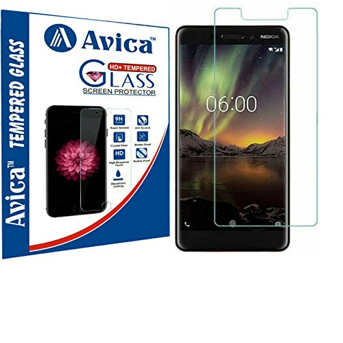 AVICA 0.3mm HD Premium Flexible Tempered Glass For Nokia 6 (2018 EDITION) [Exact Cuts] image