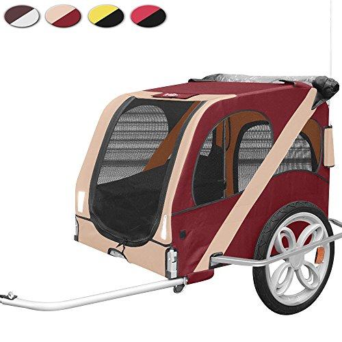 Leopet Fahrradanhänger Hundeanhänger Hunde stapazierfähig und regenabweisend inkl. Anhängerkupplung in verschiedenen Farben