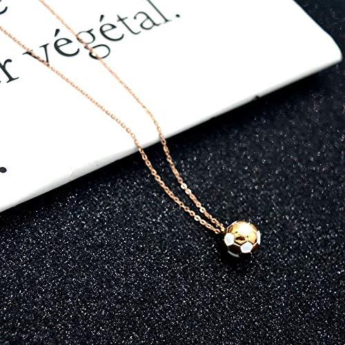 ußball Titan Stahl Anhänger Persönlichkeit Halskette Fans Mode,Weiß,Einheitsgröße ()
