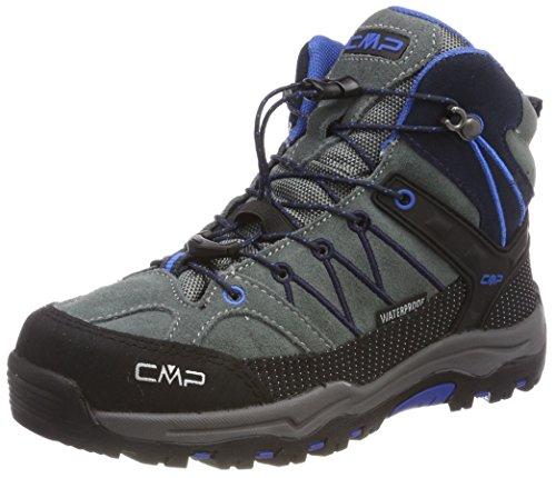 CMP Rigel, Stivali da Escursionismo Alti Unisex - Bambini, Grigio (Grey-Zaffiro), 35
