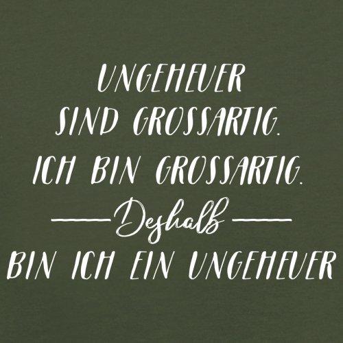 Ich Bin Grossartig - Ungeheuer - Herren T-Shirt - 13 Farben Olivgrün