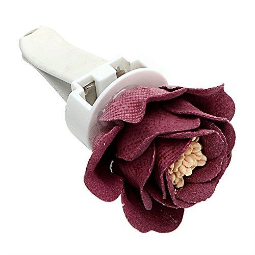 Holdream auto deodorante solido fragranza Air Vent clip fiore ornamento interni auto decori rosso
