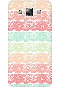 AMEZ designer printed 3d premium high quality back case cover for Samsung Galaxy E5 (lace )