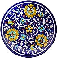 SHIV KRIPA ceramic Wall Hanging, Multicolour, 20 X 20 X 3 CM