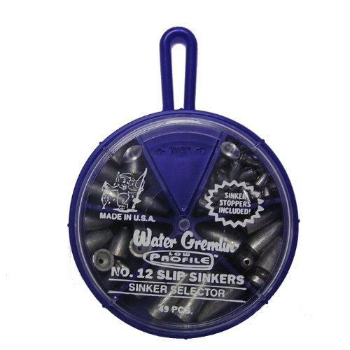 Wasser Gremlin Low Profile Slip-Sinker Selector, 8EA/1,7ea/2, 6ea/3, wachspackungen/424EA/Sinker Stopper - Low-profile-slip