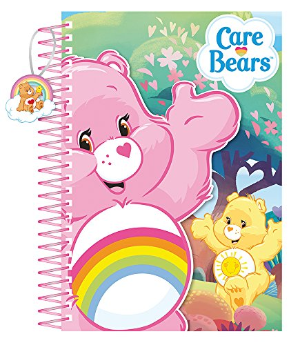 Image of Care Bears A5 Die Cut Notebook Spiral Bound,  with Little charm