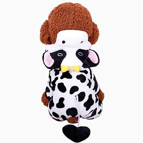 Haustier Hund Kleidung, LHWY Unisex Winter Overall Pyjamas Kostüm Welpen Hunde Katze Mantel Kleid Pullover Bekleidung Hoodies (M, Schwarz) (Katze Pyjamas Kostüm)