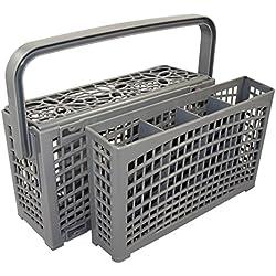 2en 1panier à couverts universel   Idéal pour tous les lave-vaisselle   connecteur   divisible   variable à monter   stable 23cm * 8,5+ 4,5cm * 13,5cm-résistant à la chaleur plastique renforcé