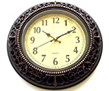 Kartique Wall Clock in Antique Metal Fin...