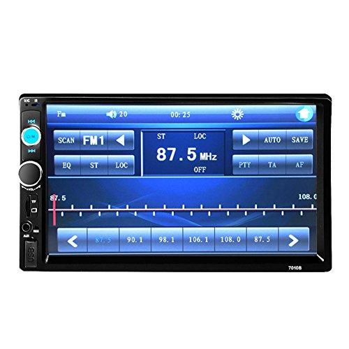 Prettygood7 Caméra de recul 17,8 cm 2DIN de Voiture Multimedia Radio Lecteur MP5 Bluetooth HD d'entrée de Voiture Radio MP5 Lecteur multimédia Radio Divertissement