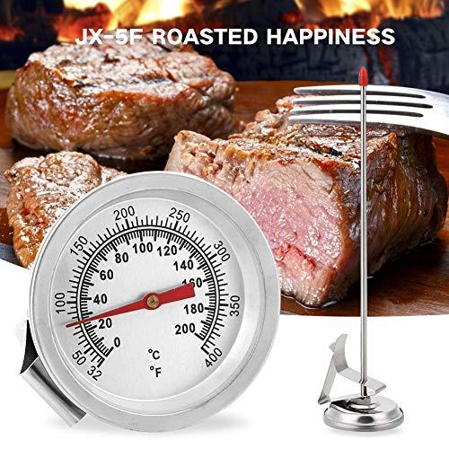 CXZC Kabelloses Fleischthermometer, Digital Ofen BBQ Thermometer bis 200 Grad Celsius |für Milch Kaffee Grill Ofen Küche Kochen mit Edelstahl-Sonde