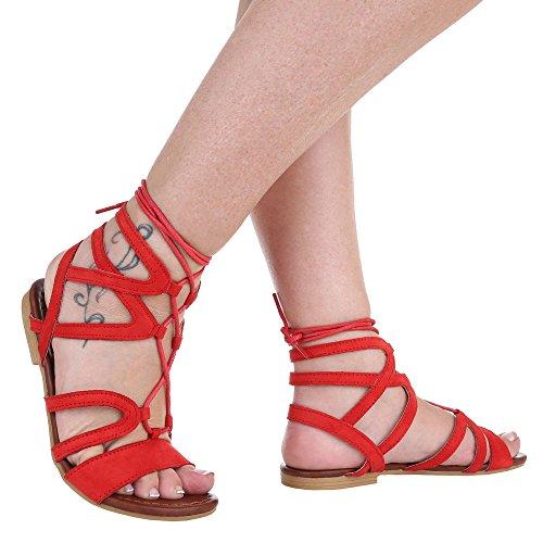 Ital-Design , Sandales femme Rouge