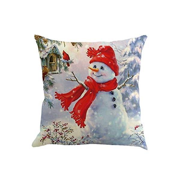 IJKLMNOP Pillowcase Christmas Pillow Linen Square Mat 45x45cm es Adecuado para oficinas, hogares, automóviles… 1