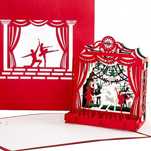 """Pop-Up Karte""""Schwanensee - Ballett"""" 3D Geburtstagskarte & Einladungskarte zu Tanz, Theater, Tanzkurs, Tanzen Lernen - als Geschenk & Geschenkgutschein zu Ballettschule, Musical & Tanztheater"""