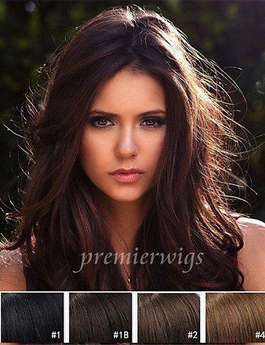Praktische Mode Perücken europäisches Haar Sommer heißer Verkauf lange natürliche Wellenmaschine gemacht Perücken virgin Europäischen Menschenhaarperücken mit dem Babyhaar für