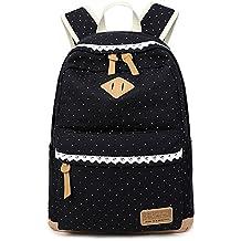 Umily Mochilas Escolares Mujer Backpack Mochila Escolar Lona Grande Unisexo Bolsa Casual Juvenil Chica
