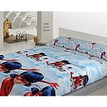 Juego de Sábanas Térmica Coralina 160gr LADYBUG (para cama de 90x190)
