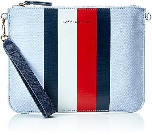 Tommy Hilfiger Mix N Match Pouch Corp Stripe, Organiseurs de sacs à main femme, Bleu (Core Stripe), 1x20x26 cm (B x H T)