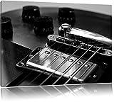 Black and White Guitar Gitarre Format: 120x80 cm auf Leinwand, XXL riesige Bilder fertig gerahmt mit Keilrahmen, Kunstdruck auf Wandbild mit Rahmen, günstiger als Gemälde oder Ölbild, kein Poster oder Plakat